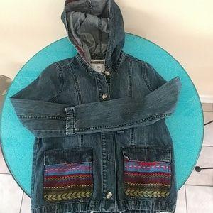 Element embroidered denim jacket